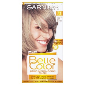 garnier belle color natural dark ash blonde 71 - Belle Color Blond Cendr