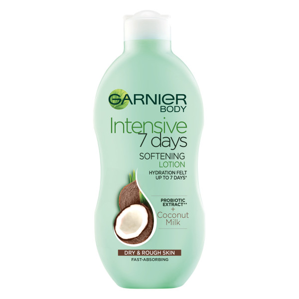 Garnier Intensive 7 Days Coconut Milk Body Lotion Dry Rough Skin