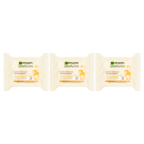 Garnier Micellar Face Wipes Oil Infused 25 Wipes Pack of 3