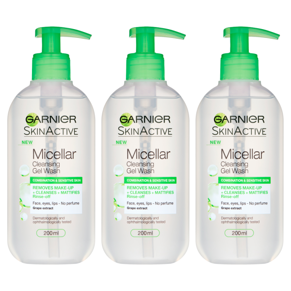 Garnier Micellar Cleansing Gel Wash - Multipack of 3