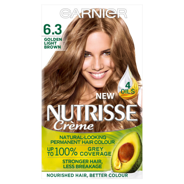 Garnier Nutrisse Creme 6.3 Golden Light Brown Hair Dye