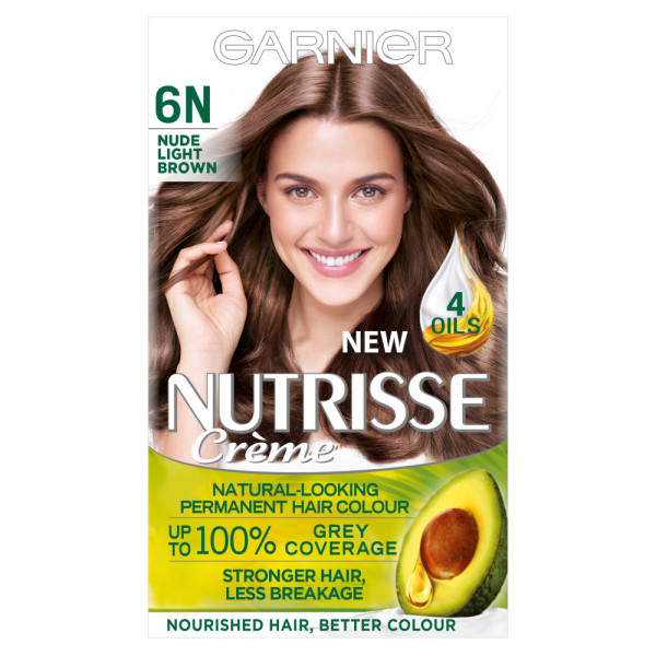 Garnier Nutrisse Creme 6N Nude Light Brown Hair Dye