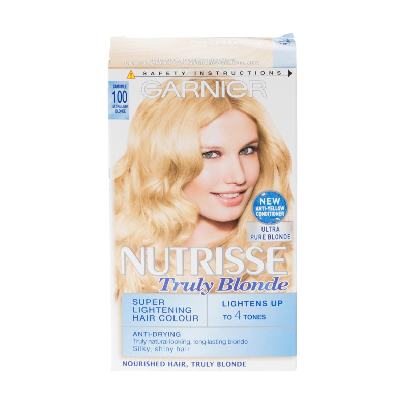 Buy Garnier Nutrisse 100 Extra Light Blonde Permanent Hair Dye 1 Kit
