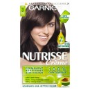 Garnier Nutrisse Creme Permanent Hair Colour 3 Darkest Brown