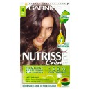Garnier Nutrisse Creme Permanent Hair Colour 4 Cocoa Dark Brown