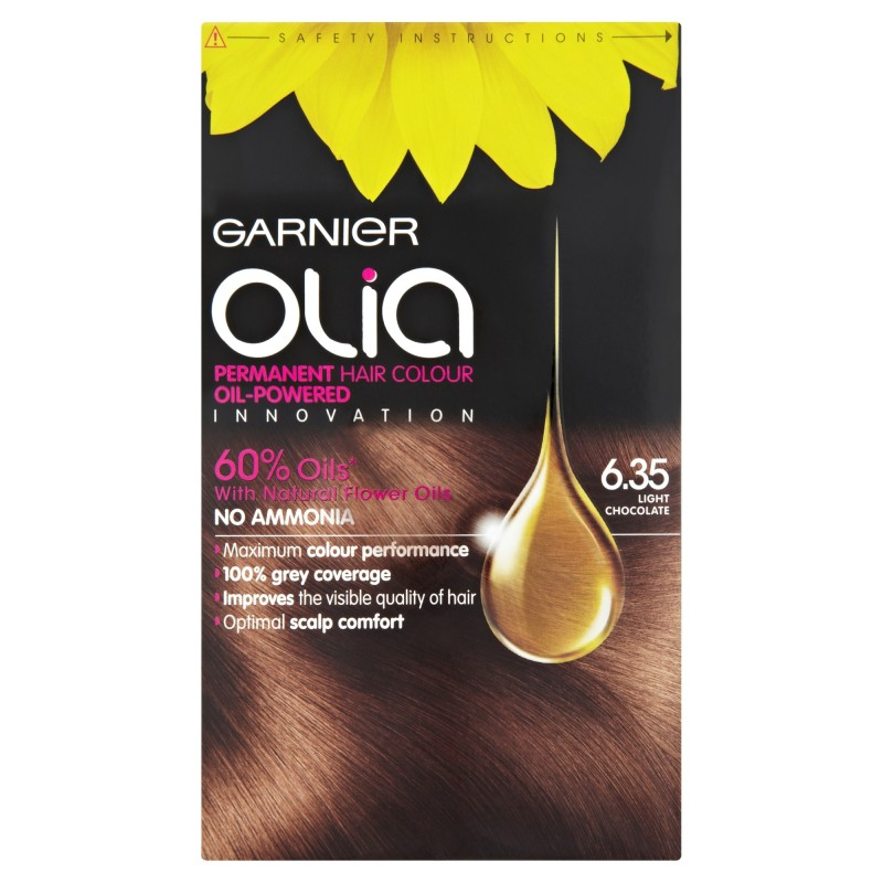 Garnier Olia Permanent Hair Colour 6.35 Light Chocolate ...