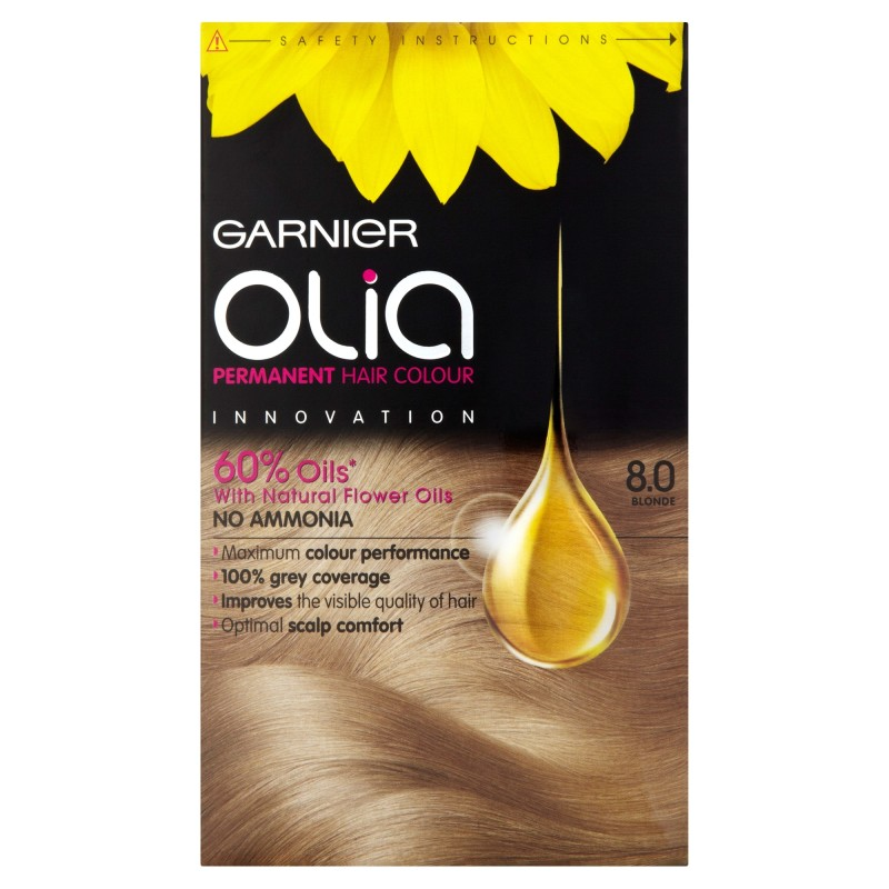 Buy Garnier Olia 8.0 Blonde Permanent Hair Dye | Chemist ...