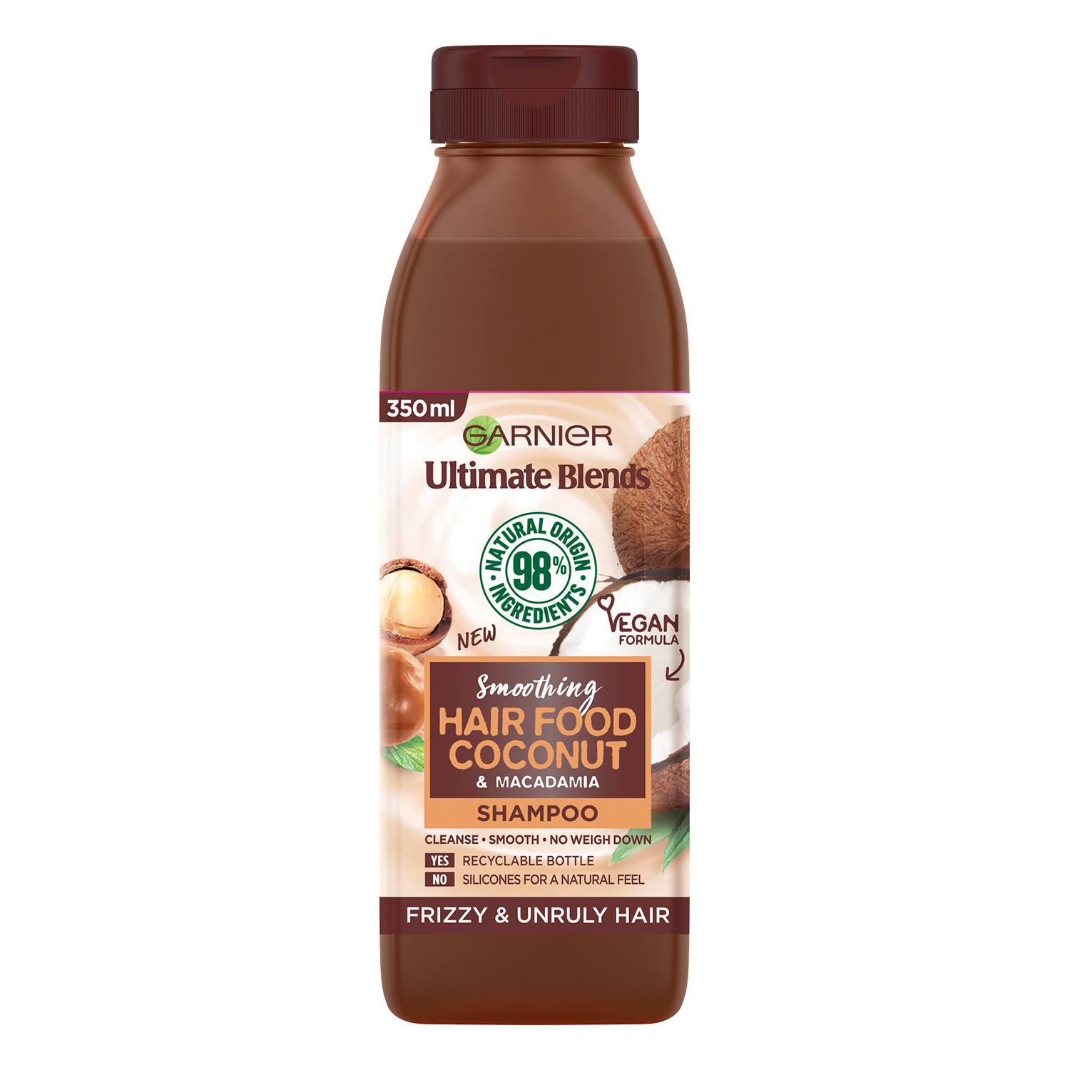 Garnier Ultimate Blends Smoothing Hair Food Coconut Shampoo For Frizzy Hair