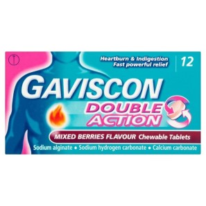 Gaviscon Double Action Mixed Berry Tablets 12s