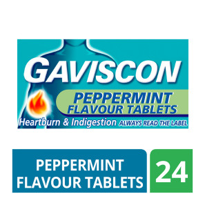 Gaviscon Tablets Peppermint 24s