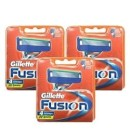 Gillette Fusion Razor Blades 4 pack x 3 (12 Cartridges)