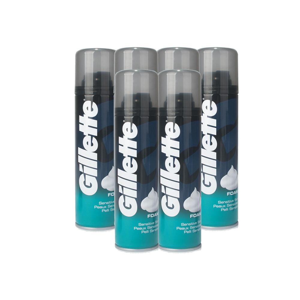 Gillette Sensitive Skin Shaving Foam 6 Pack
