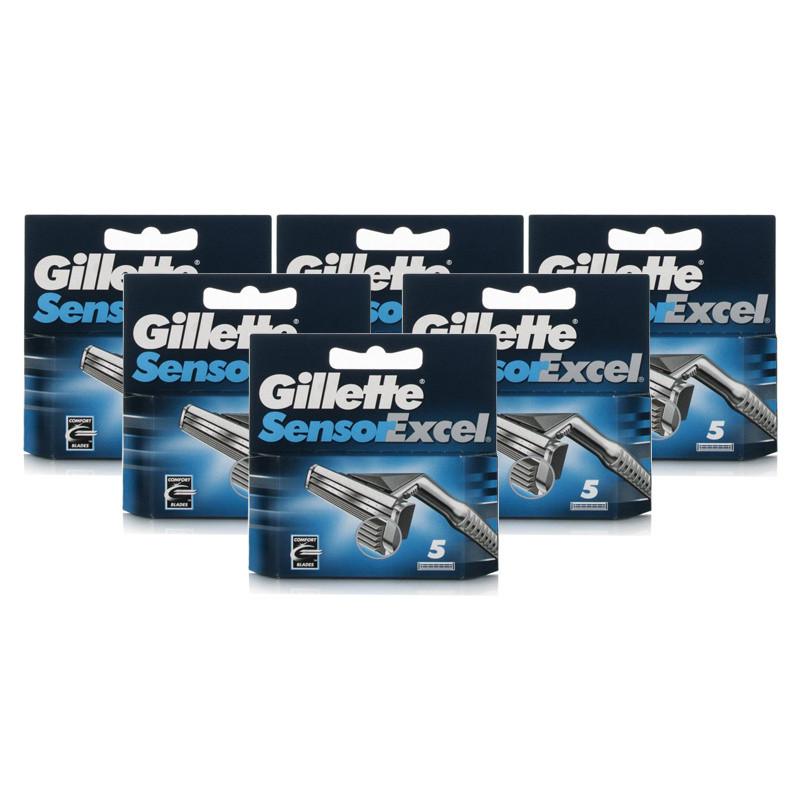 Gillette Sensor Excel Razor Blades 6 Pack