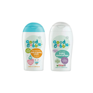 Good Bubble Bish Bash Bosh! Hair & Body Wash with Cloudberry & Little Softy Baby Moisturiser