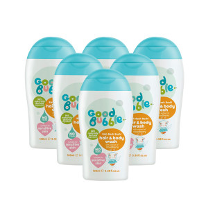 Good Bubble Bish Bash Bosh! Hair & Body Wash with Cloudberry Extract Six Pack