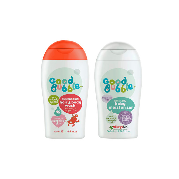 Good Bubble Bish Bash Bosh! Hair & Body Wash with Dragon Fruit & Little Softy Baby Moisturiser