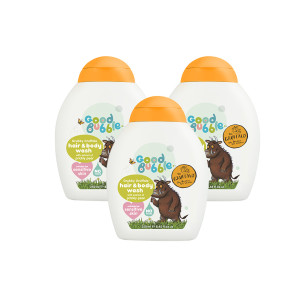 Good Bubble Grubby Gruffalo Hair & Body Wash with Prickly Pear Extract Triple Pack