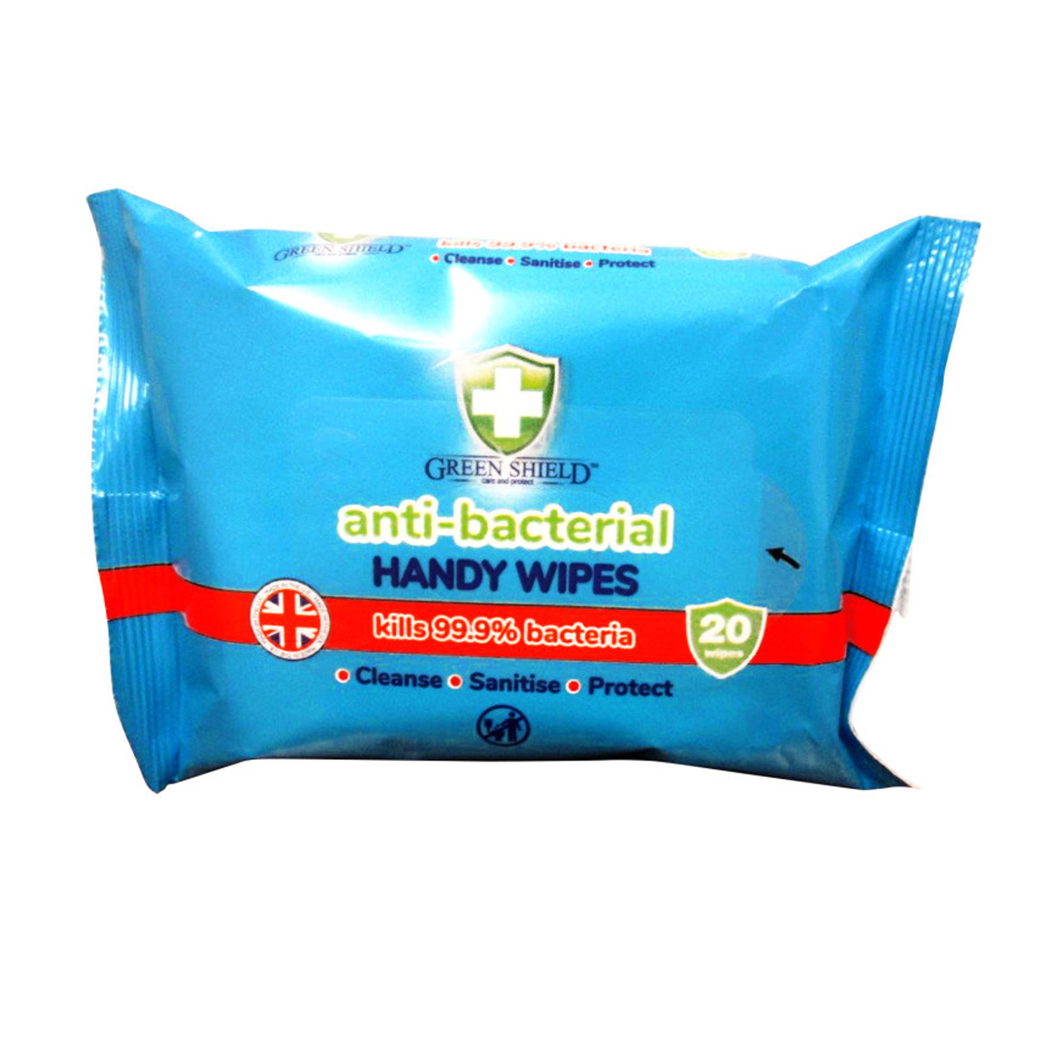 Green Shield Anti Bacterial Handy Wipes