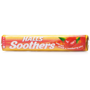 Halls Soothers Peach & Raspberry Lozenges