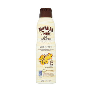 Hawaiian Tropic Silk Hydration Air Soft Lotion Continuous Spray SPF15 177ml