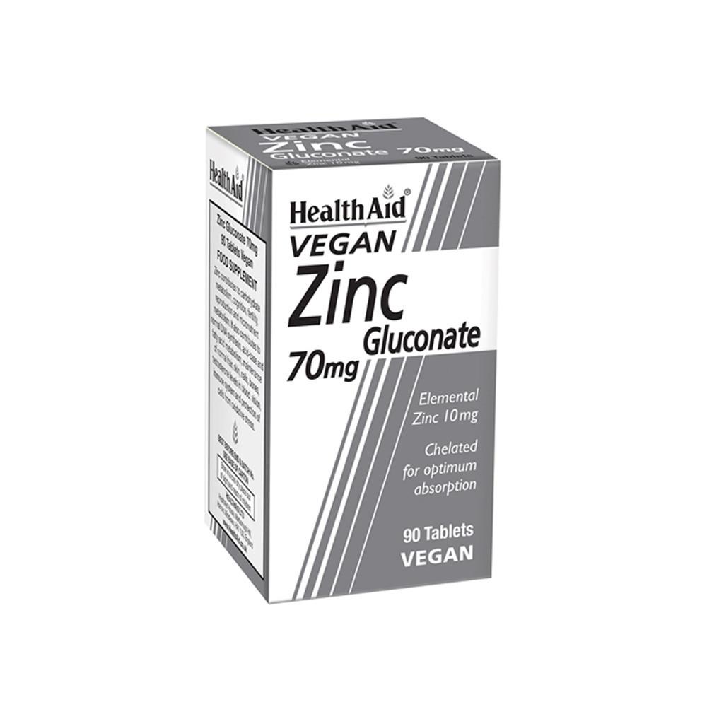 HealthAid Zinc Gluconate 70mg Tablets