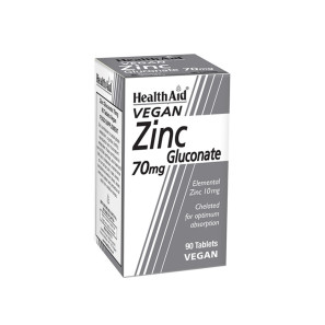 Healthaid Vegan Zinc Gluconate 70mg