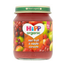 Hipp Organic 4months+ Red Fruit & Apple Compote