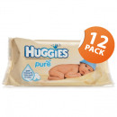 Huggies Pure Baby Wipes - 12 Pack