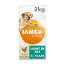 IAMS for Vitality Adult Dog Food Light in Fat With Fresh Chicken