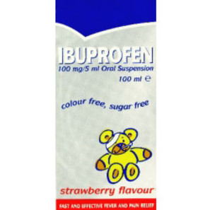 Ibuprofen 100mg/5ml Suspension For Children
