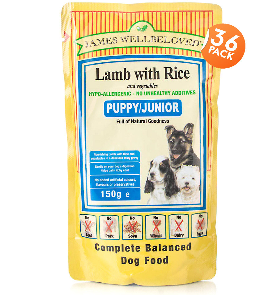 Click to view product details and reviews for James Wellbeloved Puppy Lamb Rice.