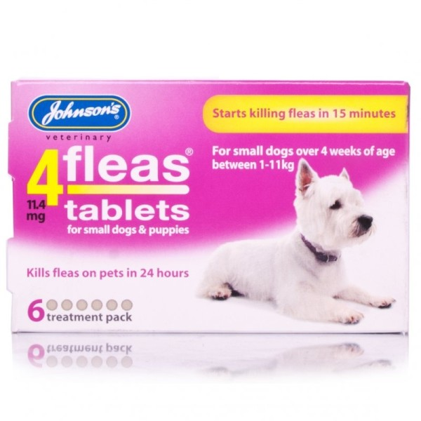 Johnsons 4fleas Tablets for Small Dogs & Puppies