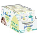Johnsons Baby Cotton Touch Wipes 56 Pieces 12 Pack