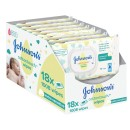 Johnsons Baby Cotton Touch Wipes 56 Pieces 18 Pack