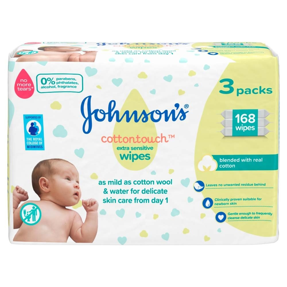 Click to view product details and reviews for Johnsons Baby Cotton Touch Wipes 56 Pieces 3 Pack.