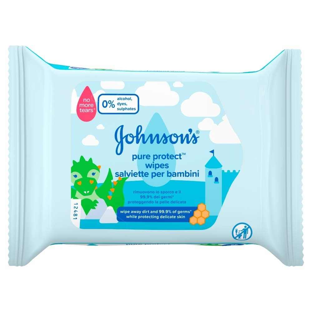 Johnsons Baby Pure Protect 25 Wipes