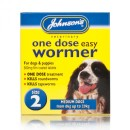 Johnsons Easy One Dose Wormer for Medium Dogs