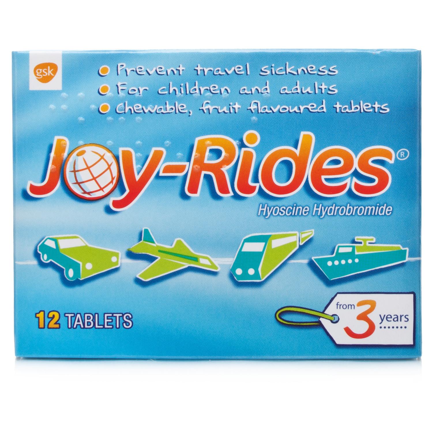 Joy Rides Travel Sickness Tablets
