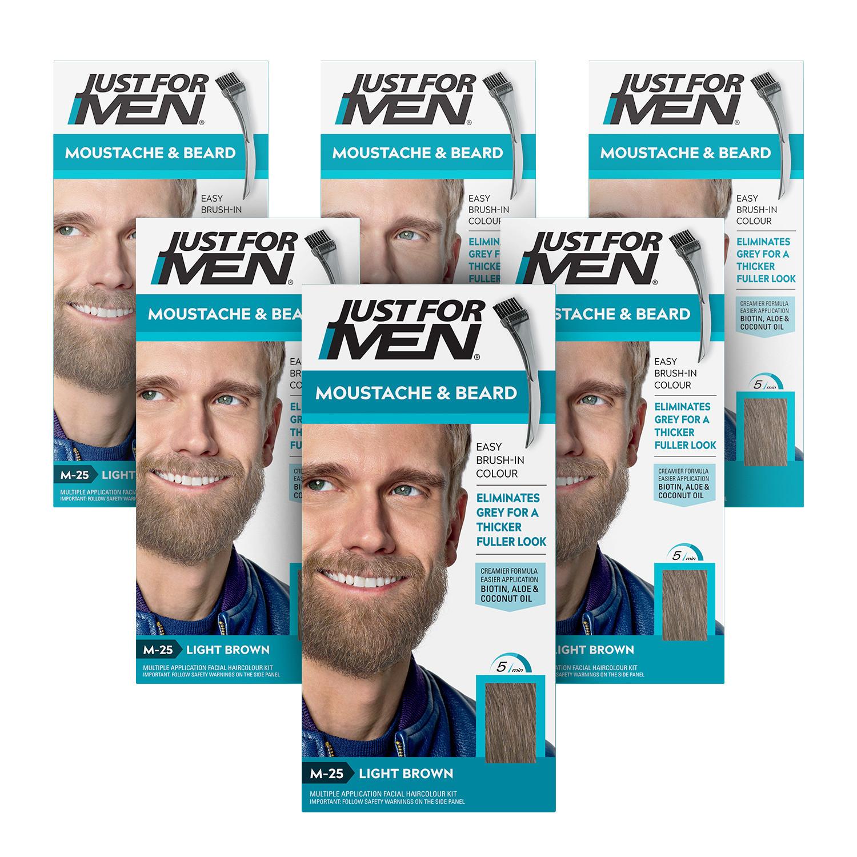 Just For Men Brush-In Nat Light Brown 6 Pack