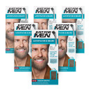 Just For Men Brush-In Facial Hair Colour Medium Brown - 6 Pack