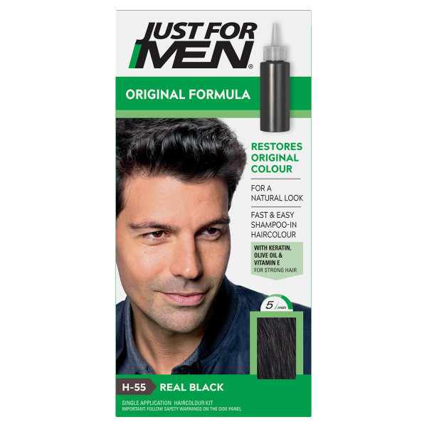 Just For Men Shampoo-In Hair Colour - Real Black