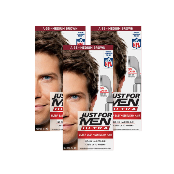 Just for Men Ultra Hair Colour 35 Medium Brown - Triple Pack