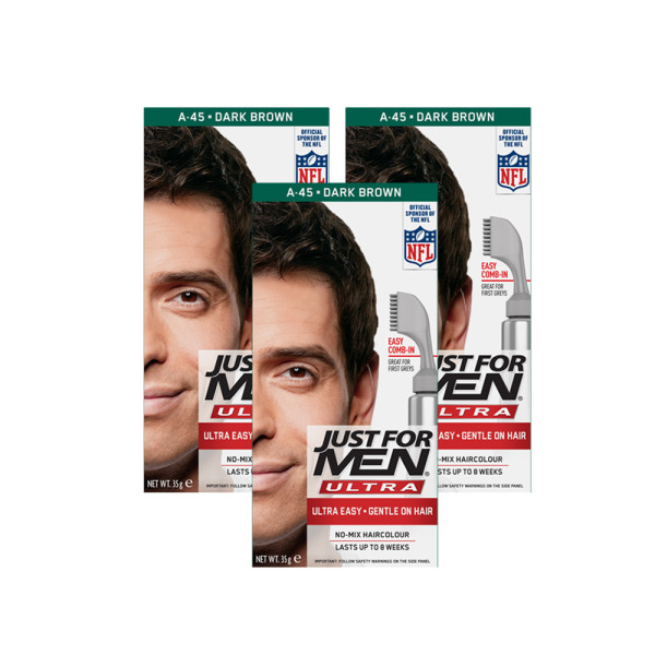 Just for Men Ultra Hair Colour 45 Dark Brown - Triple Pack