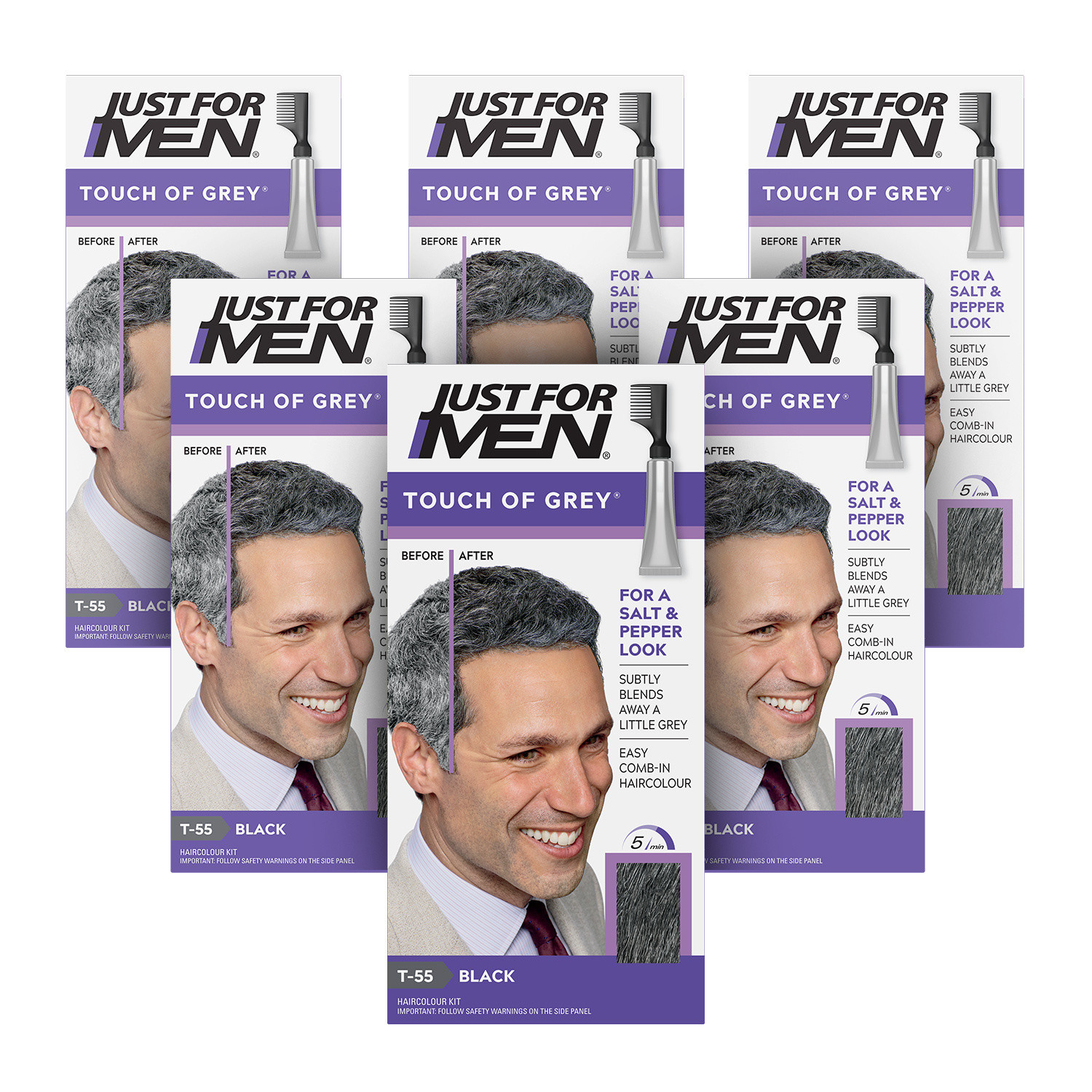Just for Men Touch of Grey Black-Grey 6 Pack