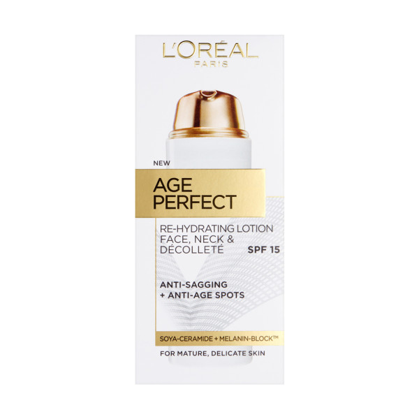 LOreal Paris Age Perfect Re-Hydrating Lotion Face, Neck & Decollete