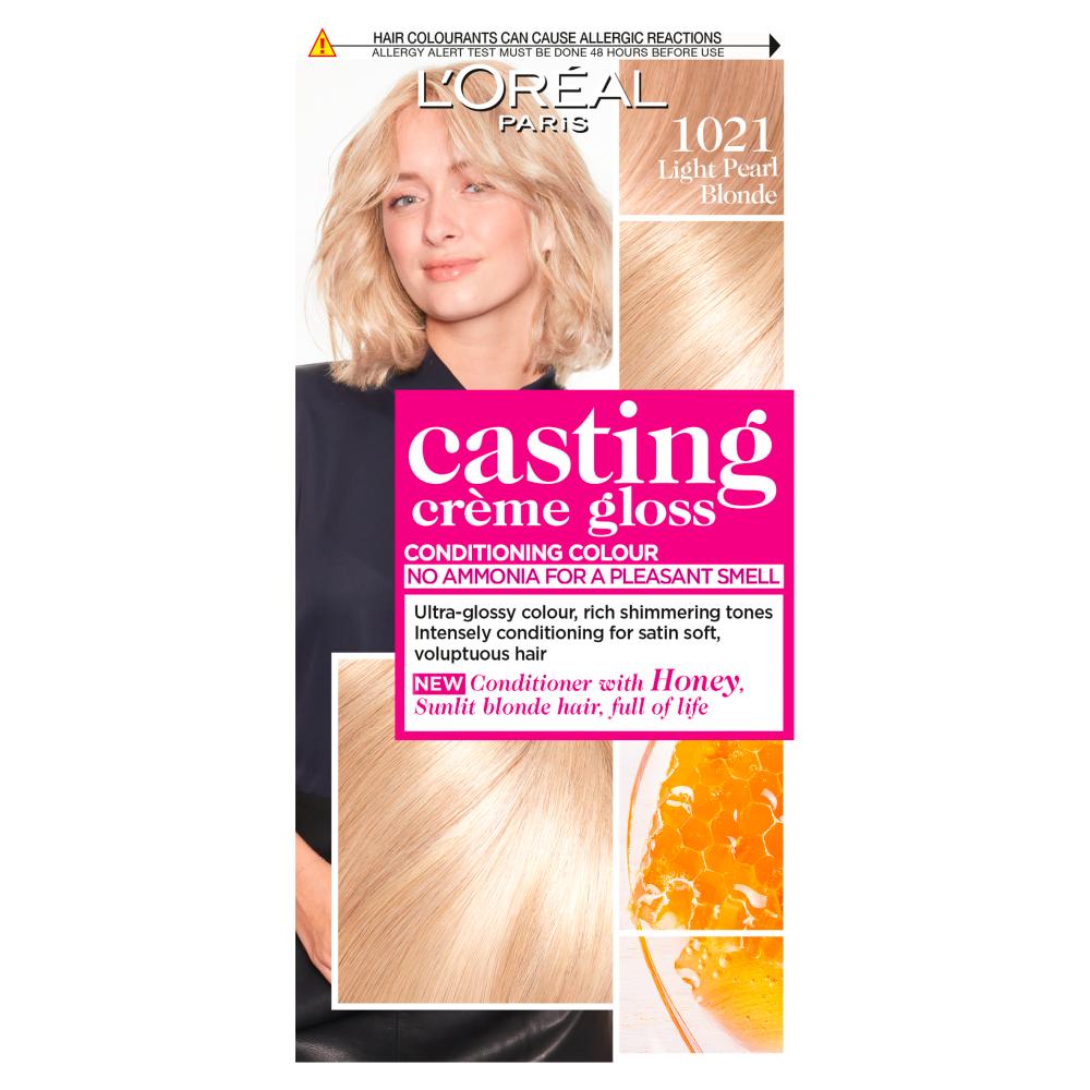 L'Oreal Paris Casting Creme Gloss 1021 Light Pearl Blonde Hair Dye