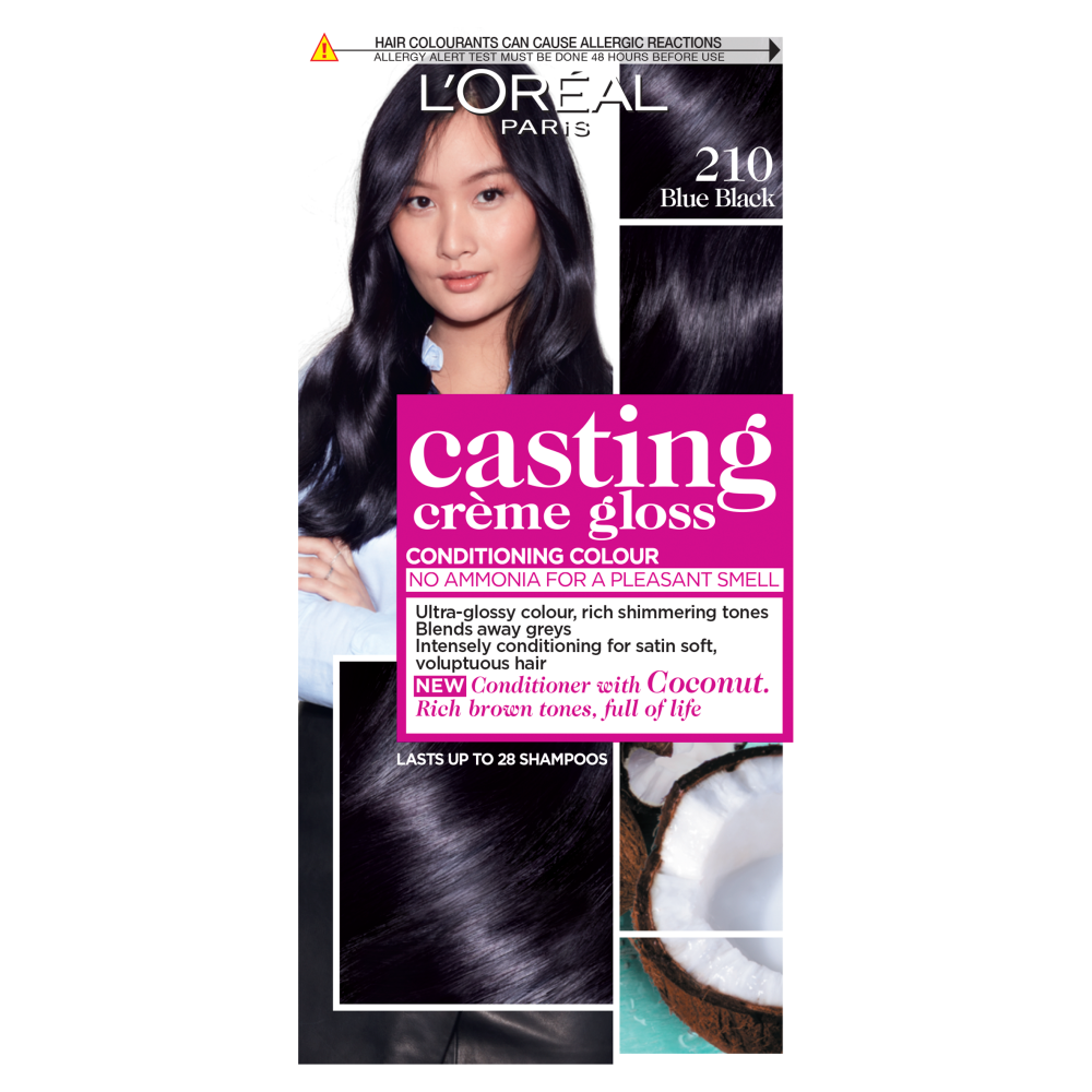 L'Oreal Paris Casting Creme Gloss 210 Blue Black Hair Dye