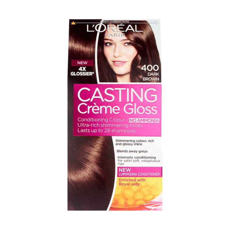 Buy L'Oreal Casting Creme Gloss 400 Dark Brown Semi ...