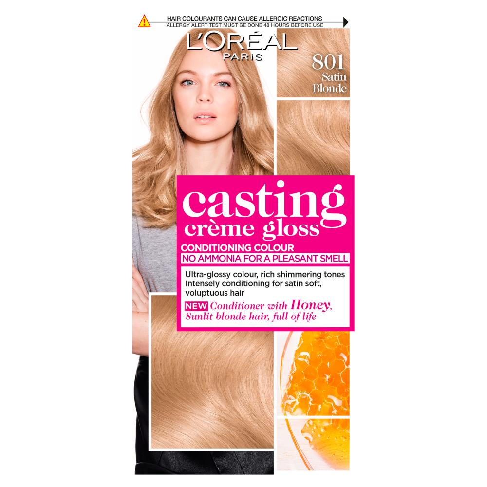 L'Oreal Paris Casting Creme Gloss 801 Satin Blonde Hair Dye