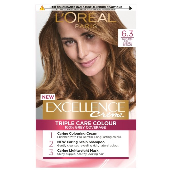LOreal Excellence Creme 6.3 Light Golden Brown